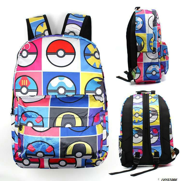 pokemon GO ELF BALL canvas backpack manga school leisure casual