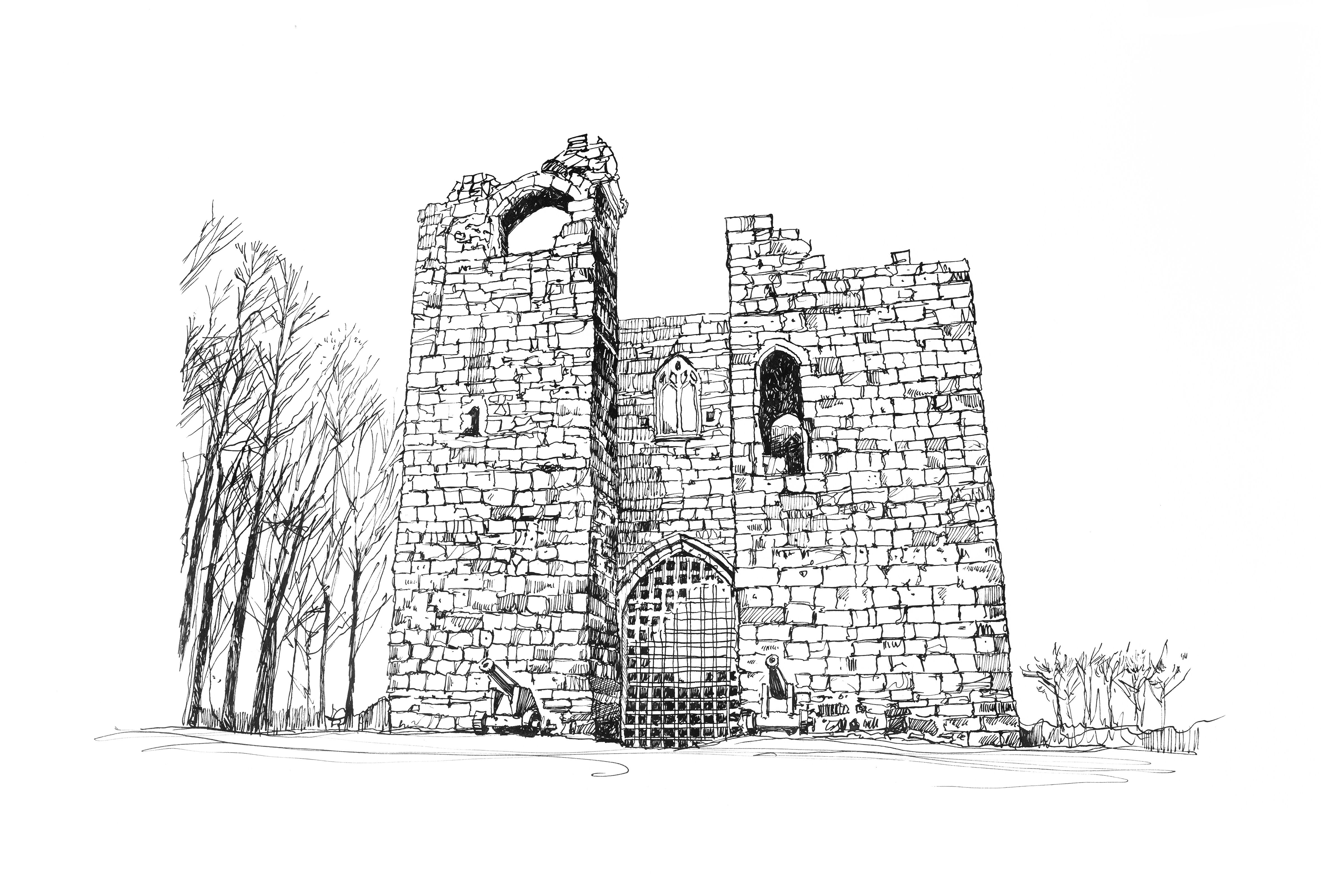 How to draw Priory with a simple pencil easily and without artistic skills