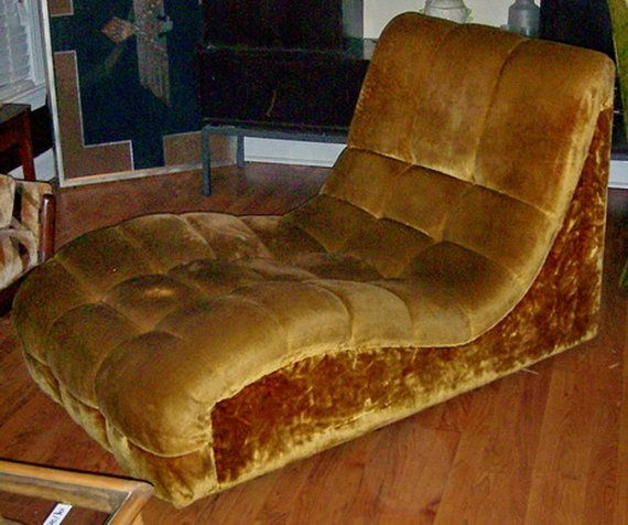 Wow Rare Hard To Find Mcm 1970 S S Curved Double Chaise