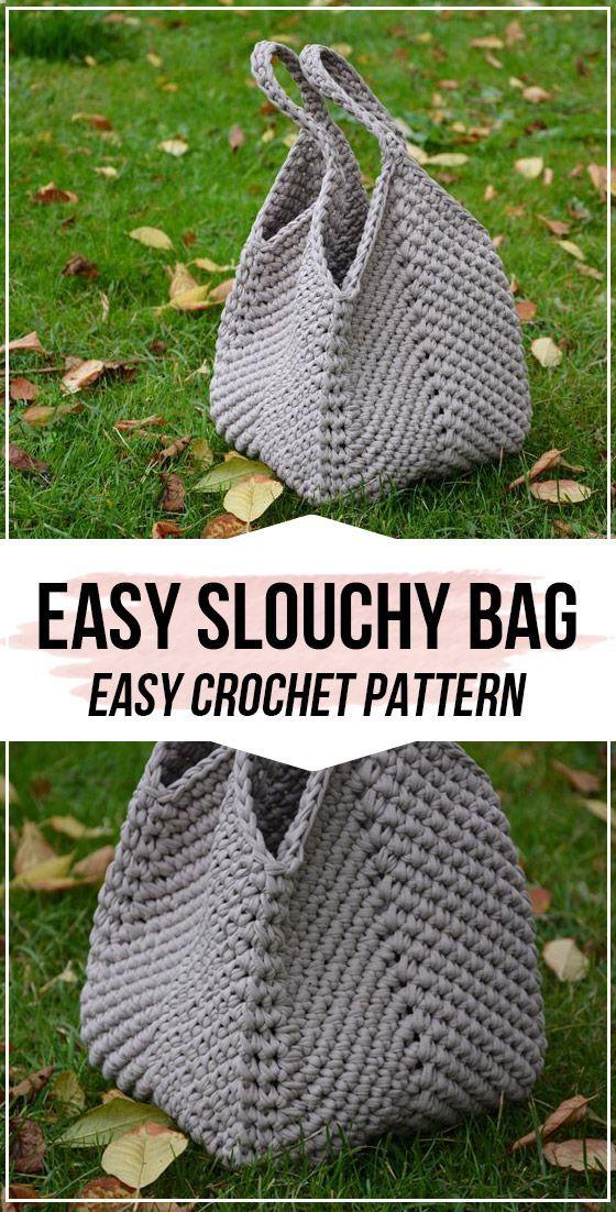 Häkelanleitung Easy Slouchy Bag - einfache Häkeltaschenanleitung für Anfänger   - Taschen und Körbchen -   #Anfänger #bag #Easy #Einfache #für #Häkelanleitung #Häkeltaschenanleitung #Körbchen #Slouchy #Taschen #und #bagpatterns