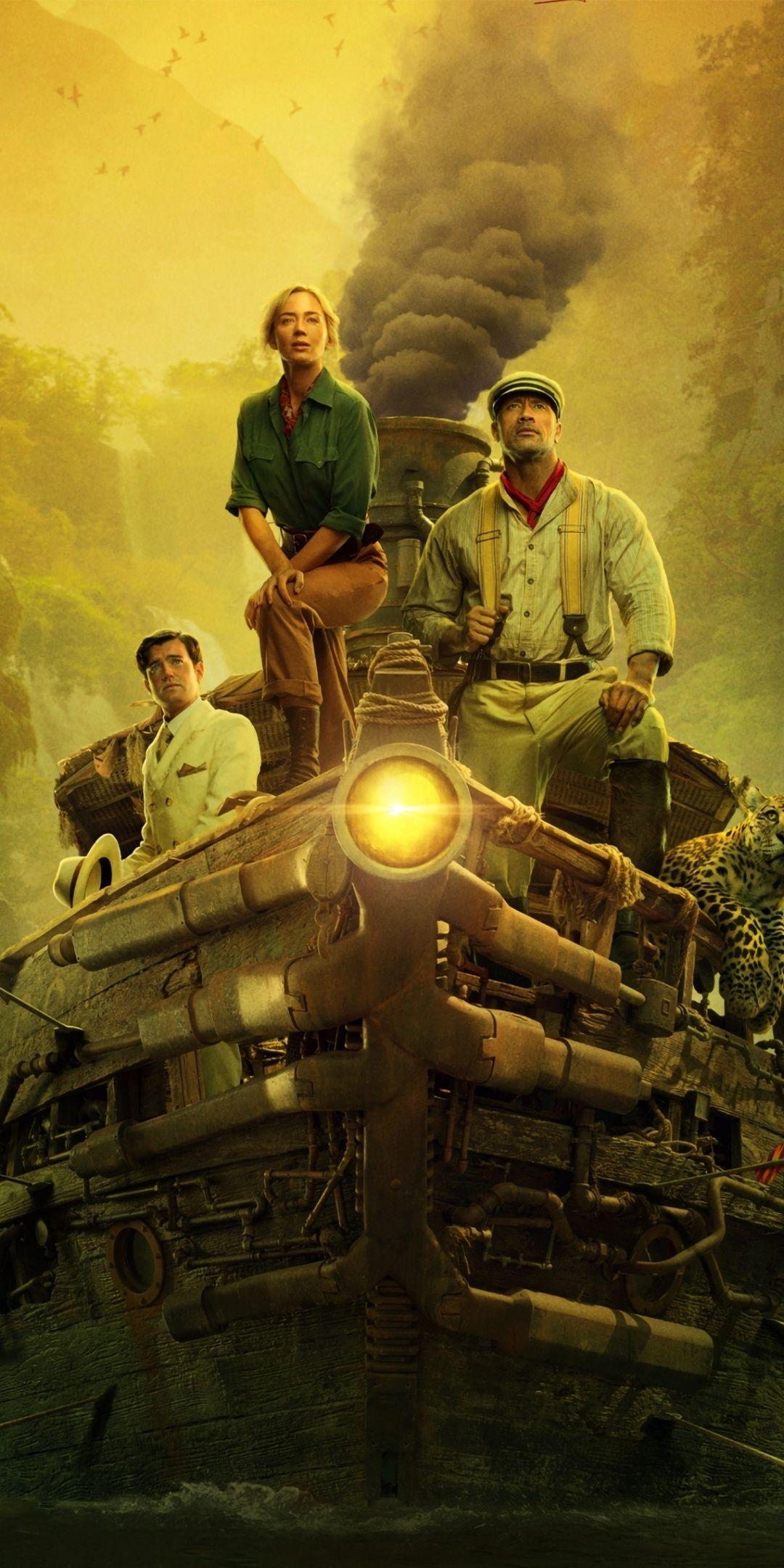 Movie, fantasy movie, Jungle Cruise, 2020, 1080x2160 wallpaper