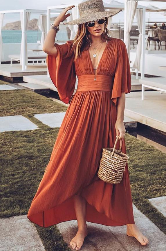 Casual Boho Dress Outfit