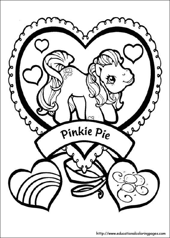 Mewarna10 Kleurplaten My Little Pony Kleine Pinkie Pie