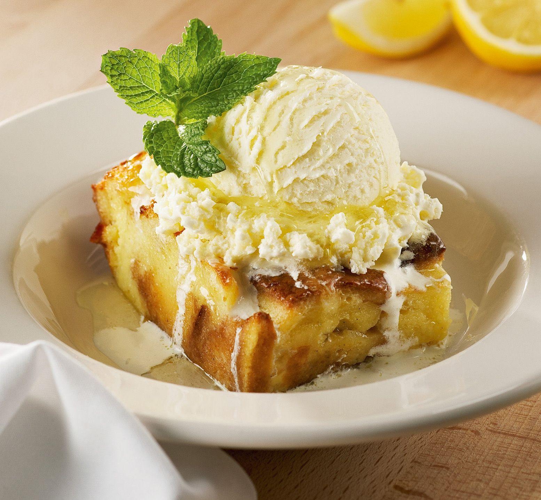 Limoncello bread pudding