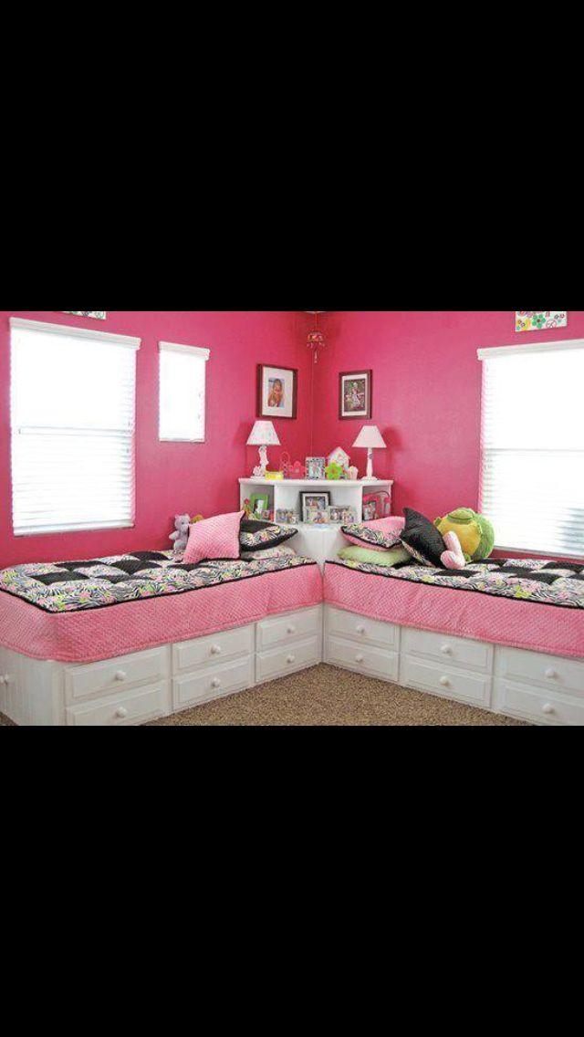 Kids Bed Storage   Bedrooms, Girls and Room