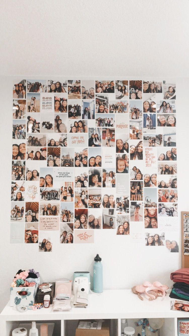 Photo Wall Vsco Aesthetic Room Decor Photo Walls Bedroom Dorm