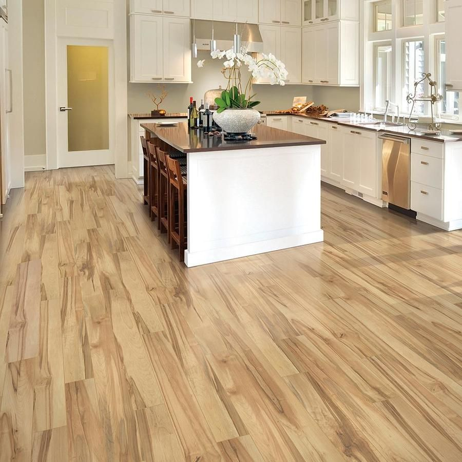 Quickstep Studio Spill Repel Concord Maple 6 14 In W X 3 93 Ft L Smooth Wood Plank Laminate Flooring Lowes Com Laminate Flooring Kitchen Flooring Wood Planks