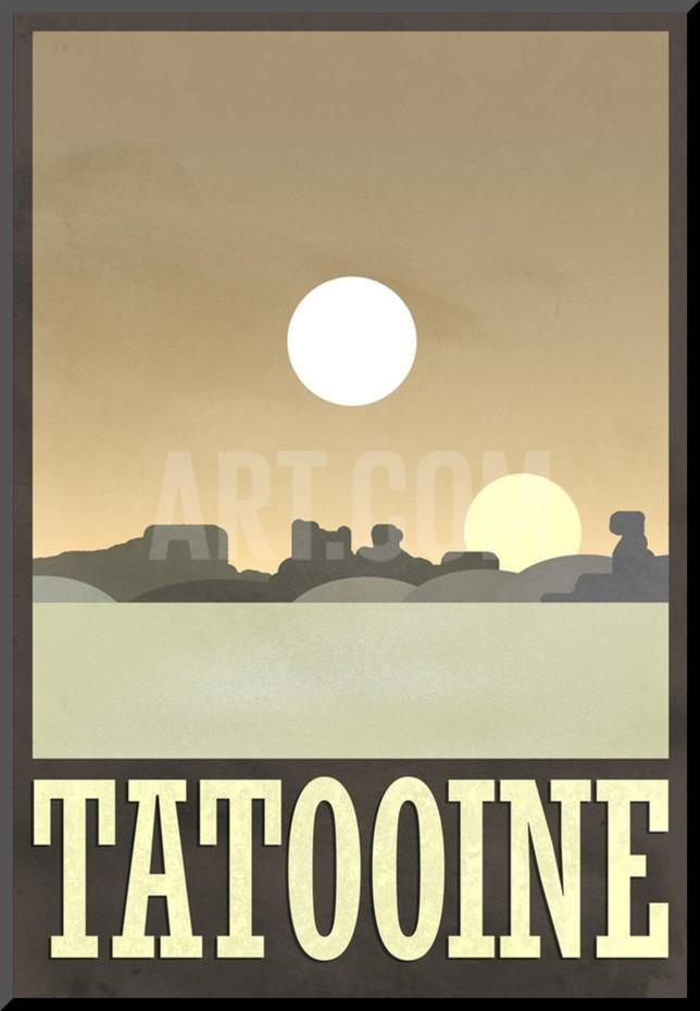 Tatooine Travel Poster Mounted Print at Art.com