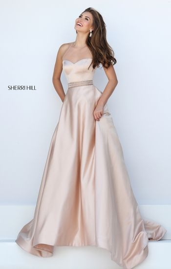 Champagne Color Long Prom Dress Fancy Dresses Prom Dresses