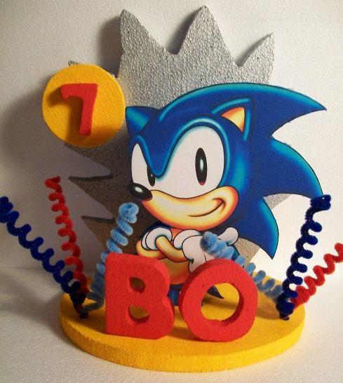 sonic the hedgehog custom 3d cake topper centerpiece alexs 5th