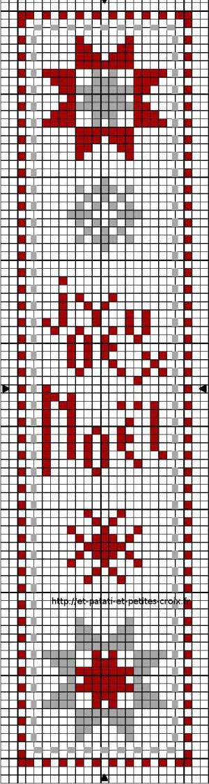 marque page joyeux noel   Marque page, Point de croix noel et Point de croix