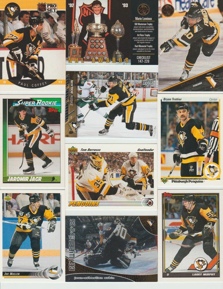 Huge 150 + Penguins cards lot 1990 - 2016 HOF Lemieux Jagr Horqvist Letang more #PittsburghPenguins