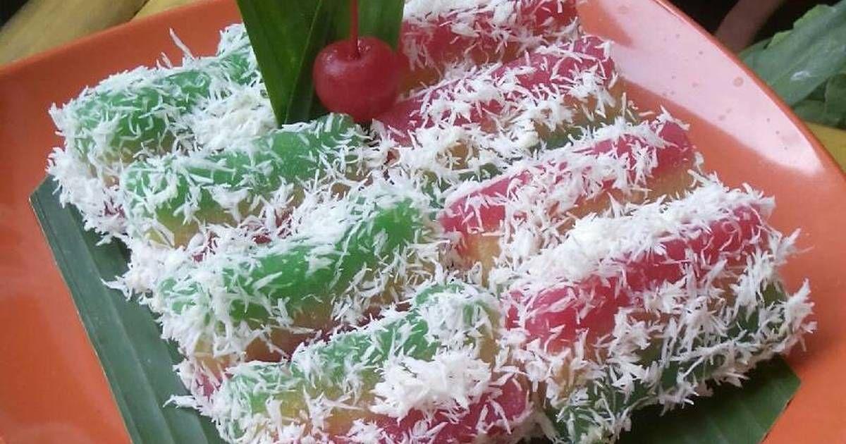 Resep Lapis Singkong Pelangi Oleh Hanindya Recipe Cooking And Baking Coconut Coconut Flakes