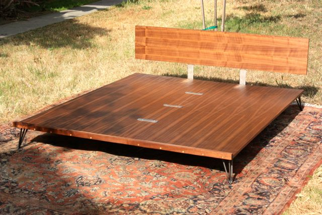 Case Study Bed 100 Handmade With Walnut Plywood And Raw