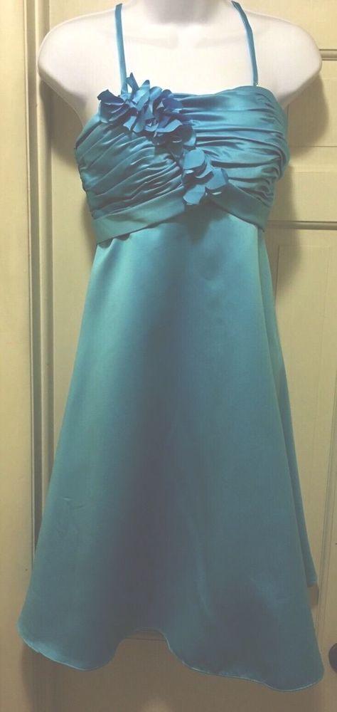 Mary's Bridal Turquoise Knee Length ,Empire Waist Formal/Social,Prom Dress, 4  | eBay