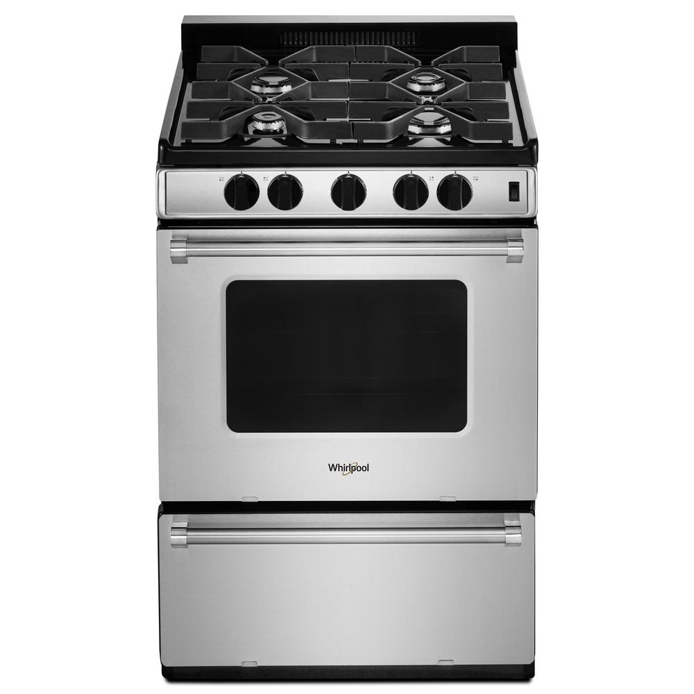 Whirlpool 3 0 Cu Ft Gas Range With Sealed Burners In Stainless