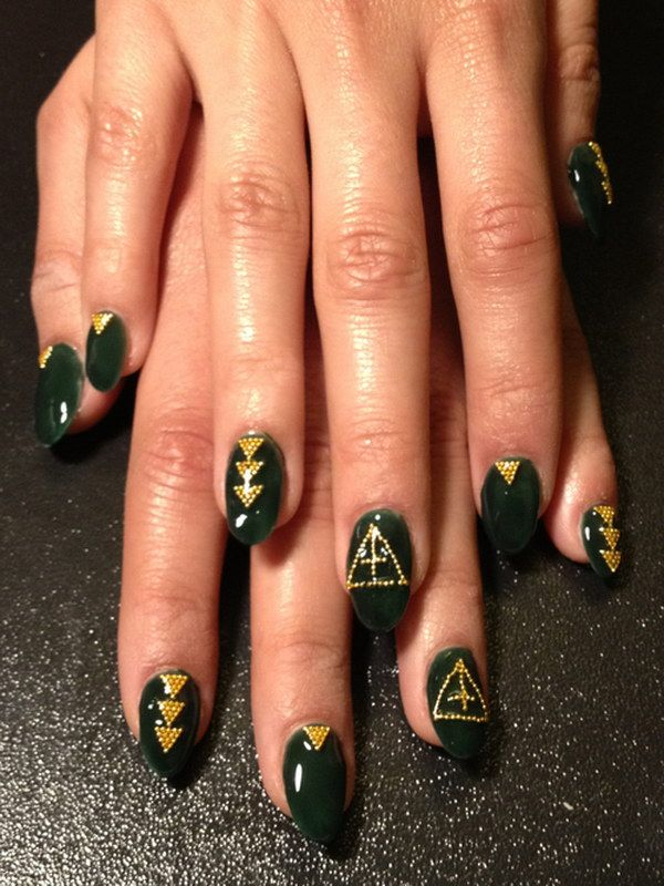100 awesome green nail art designs dark green nails green nail 100 awesome green nail art designs prinsesfo Image collections
