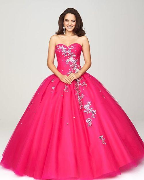 vestido-rosa-de-fiesta | Vestidos de Noche | Pinterest