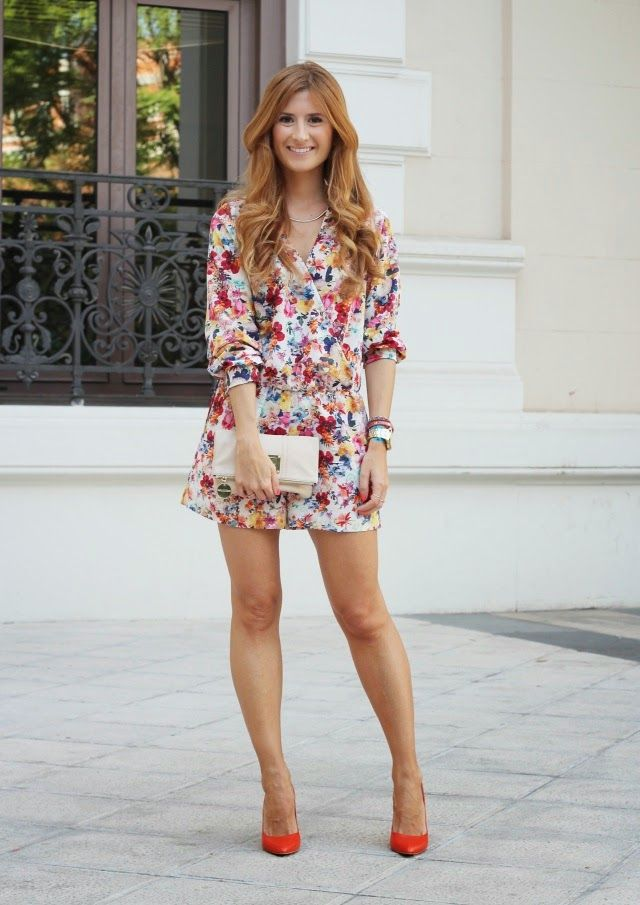 1cb6b6129fb FLOWERED JUMPSUIT - MONO DE FLORES | I want her look | Zapatos ...