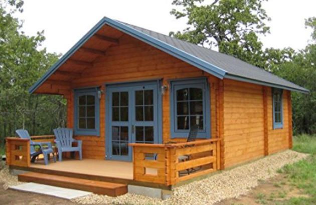 Affordable cabin kits tiny houses prefab free shipping for Home building kits texas