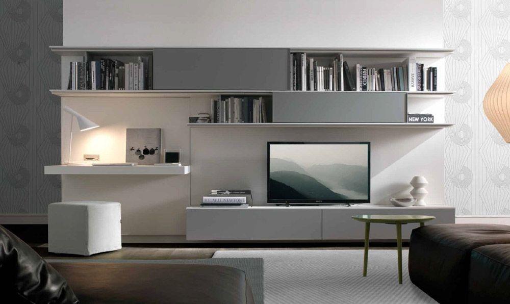 parete attrezzata moderna scrivania - Cerca con Google | Salotto ...