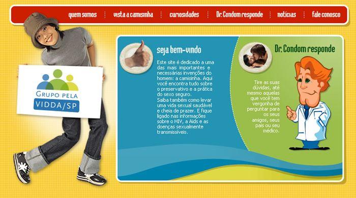 Criação e Implementaçào do Site de Conscientização de DST.  www.wolsdesign.com