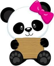 osito panda con lazo  liss  Pinterest  Panda Kawaii and Clay ideas