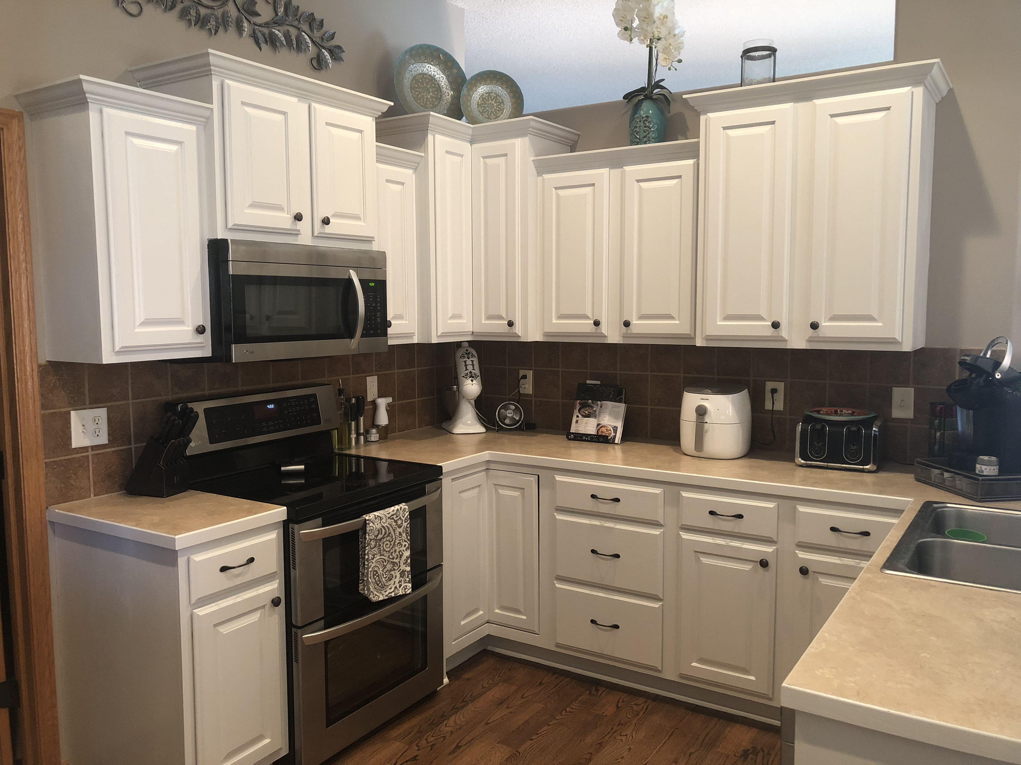 Updated kitchen Sherwin Williams Eider White