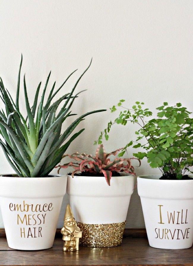 25 Simple DIY Ways To Customize & Paint Terra Cotta Pots