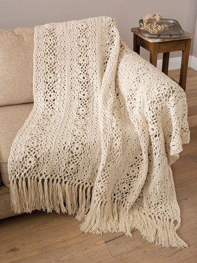Free Crochet Irish Lace Afghan pattern featured in Season 8 of Knit ...