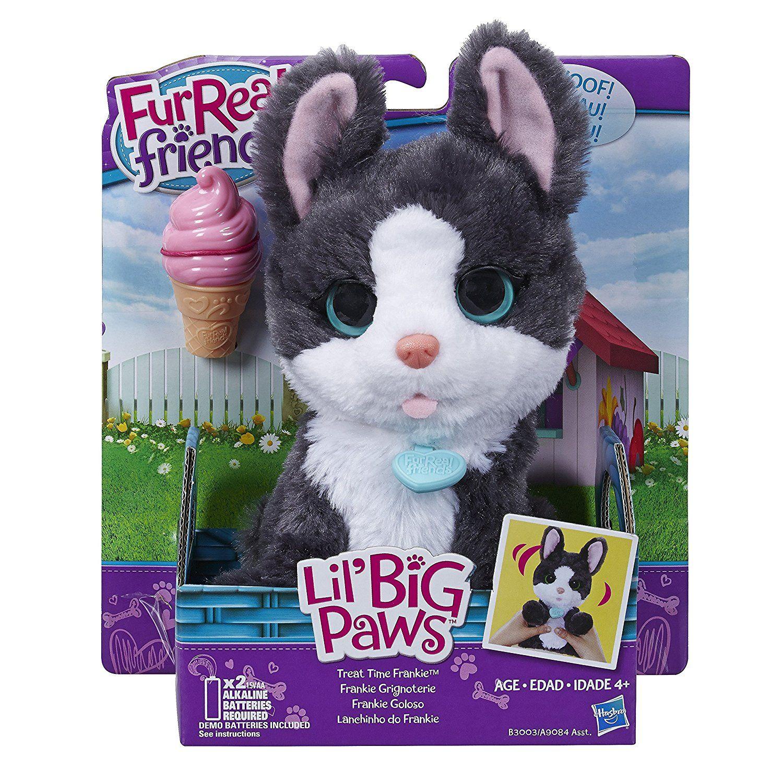 Amazon Com Furreal Friends Li L Big Paws Treat Time Frankie Pet Toys Games Fur Real Friends Paw Frankie