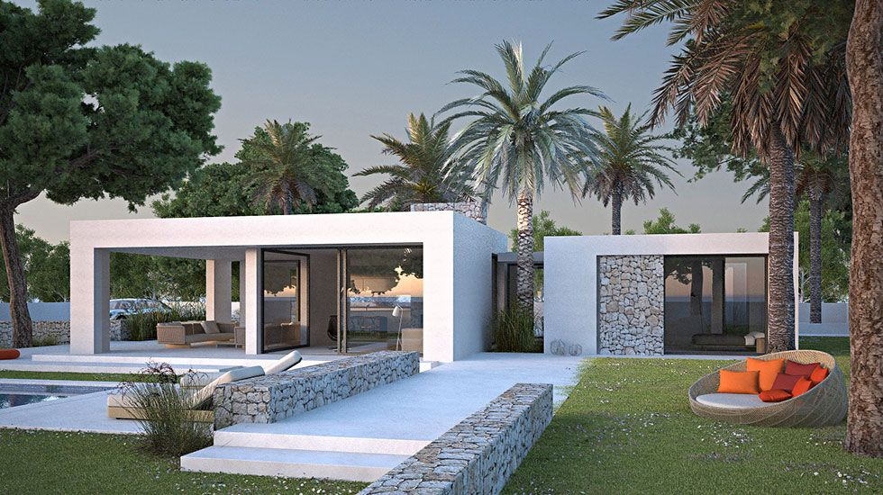 Seasites House I  seasites - timeless architecture with mediterranean soul  2 bedrooms - 3 bedrooms optional Constructed area building: 146m² Constructed area covered terraces: 40m²  Total constructed area: 186m² + Constructed area terraces: 20m²