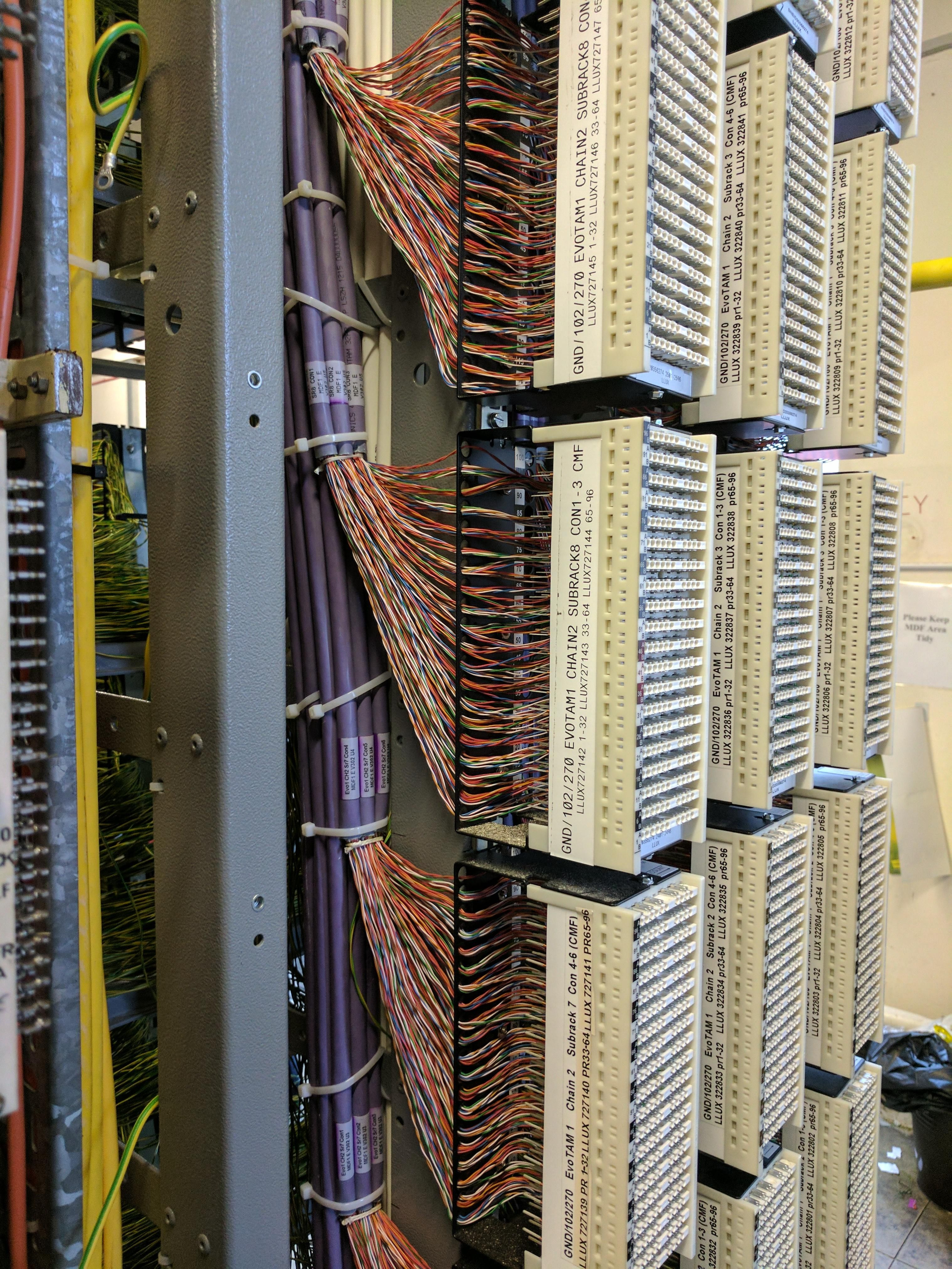 Nice Bit Of Cabling At The Telephone Exchange In Stanstead England Together With Wiring And Cable On Home