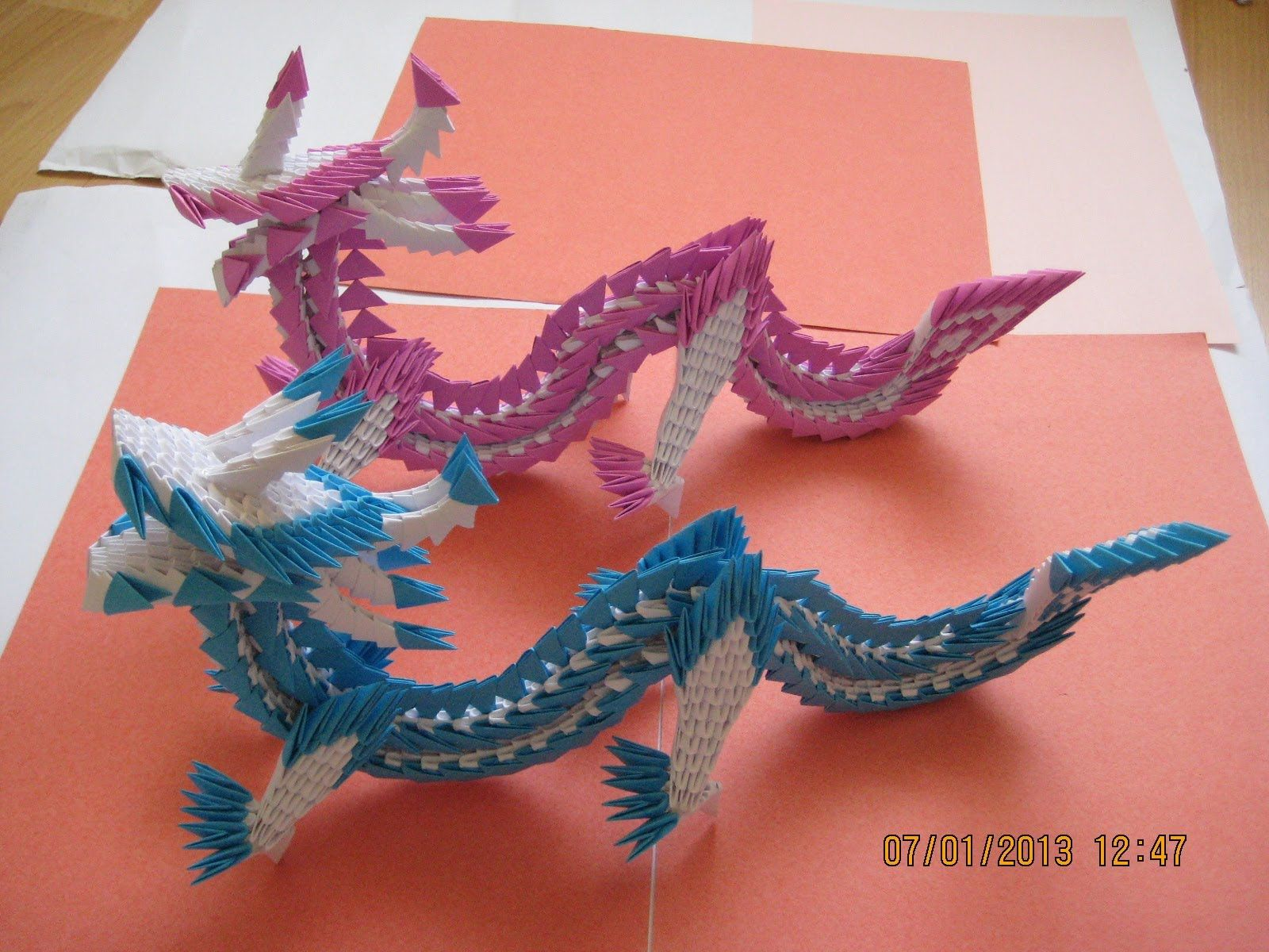 3d origami dragon 3d origami dragon 867 pieces