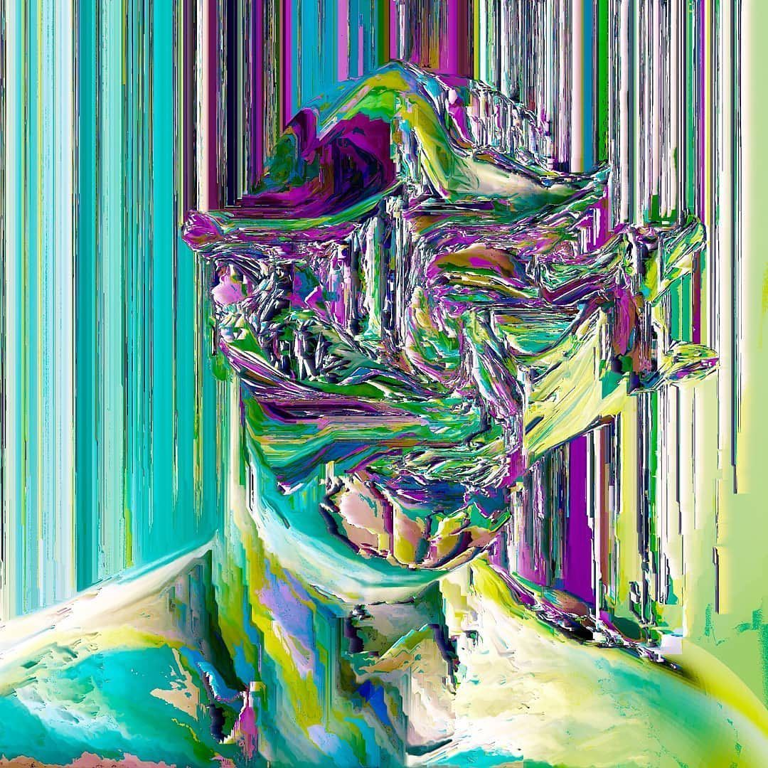 "Glitch and Vaporwave Art on Instagram: """"Untitled"" ️ Artist: @draincain Give a warm Glitch Glue ..."