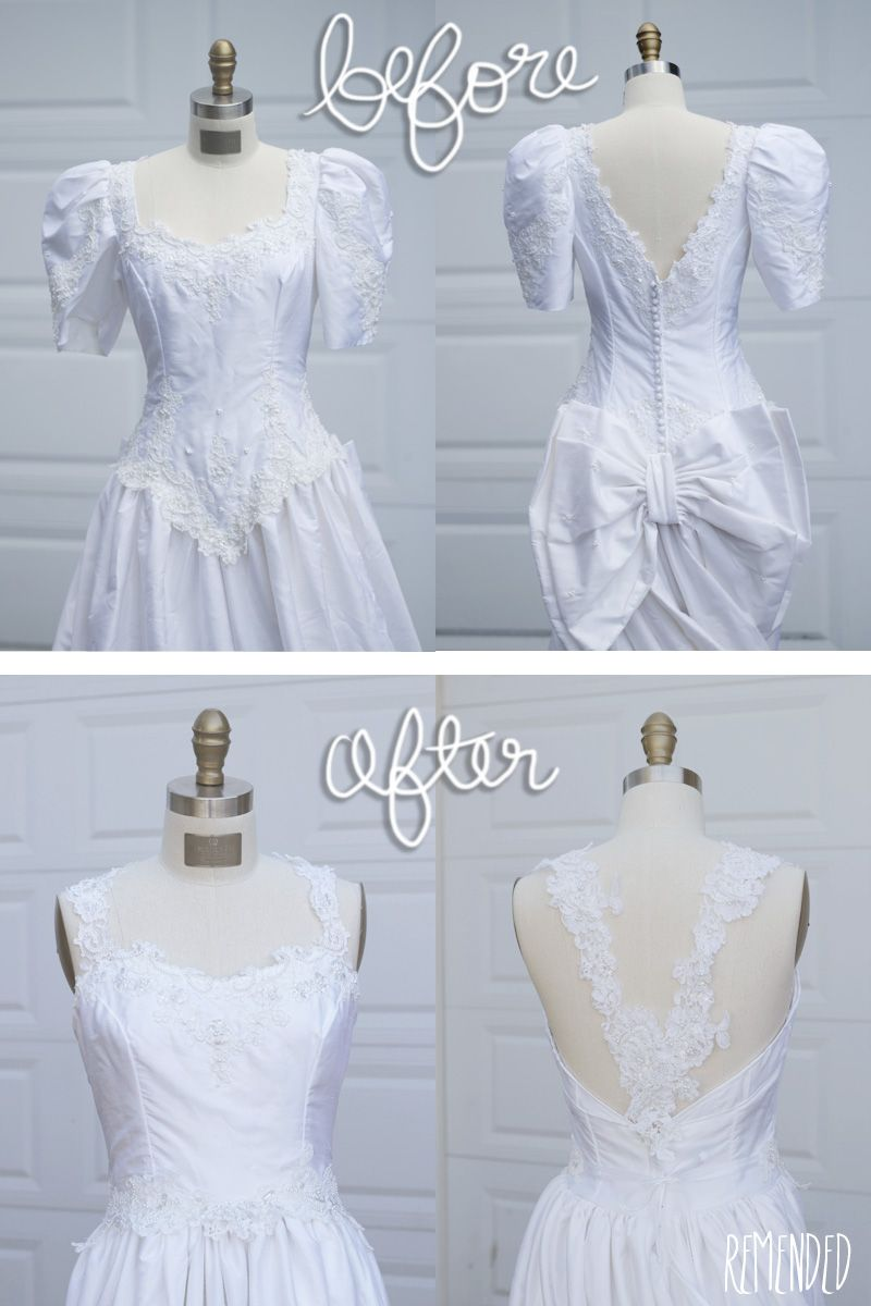 Remended: Refashion: 80s Wedding Dress....Not this exact dress, but ...
