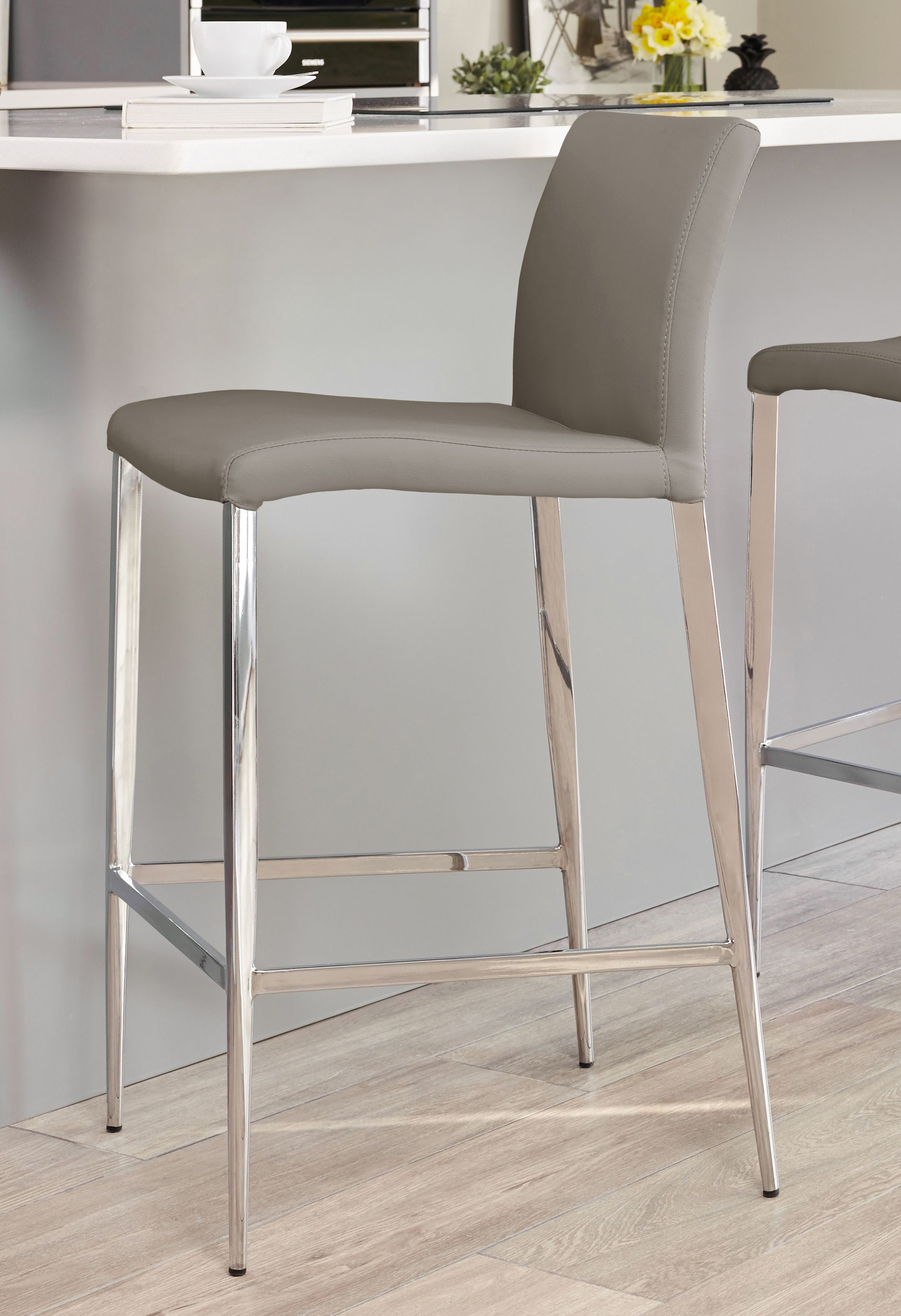 Elise Bar Stool Modern Bar Stools Grey Bar Stools Contemporary