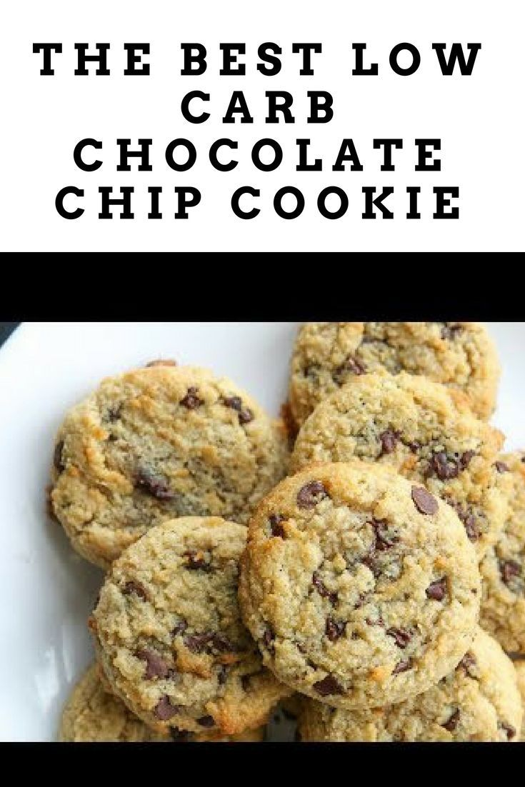 The Best LOW CARB Chocolate Chip Cookie Recipe | Gluten Free, Dairy Free, Keto C...,   Cookie Recipes