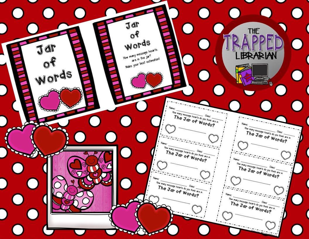 Valentine Estimation Jar Activity Free