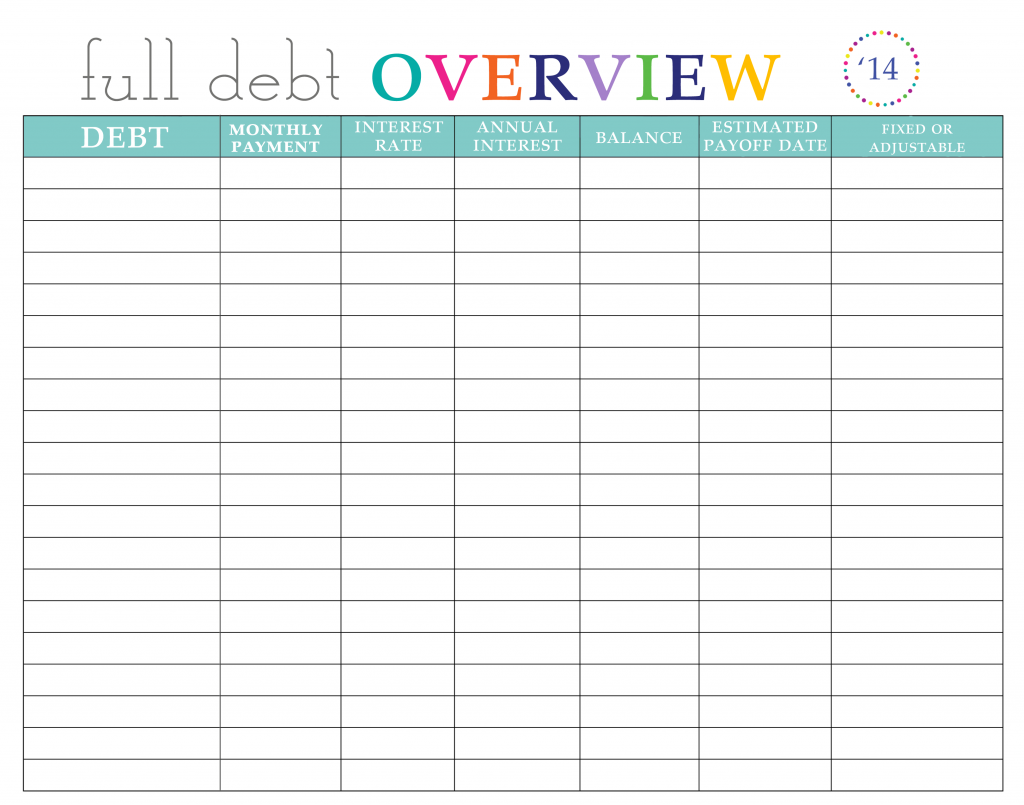 Worksheets Debt Worksheet paying off debt worksheets and budgeting worksheets