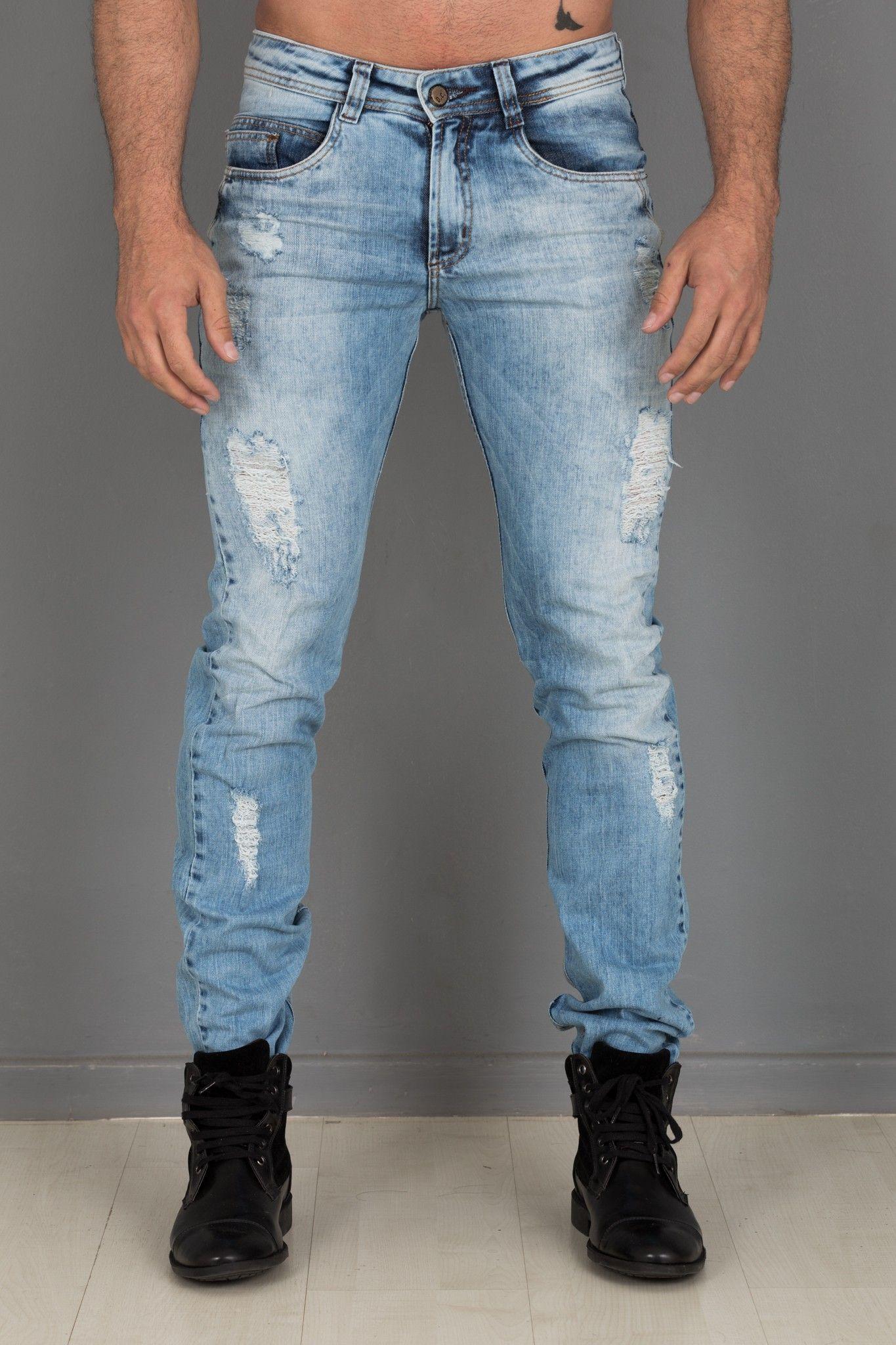 63791dab9 Calça Masculina Rasgada, Jaqueta Masculina, Coturno Masculino, Jeans  Masculino,