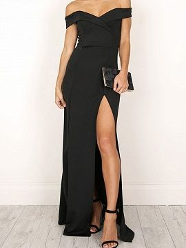 24+ Off the shoulder long maxi dress ideas