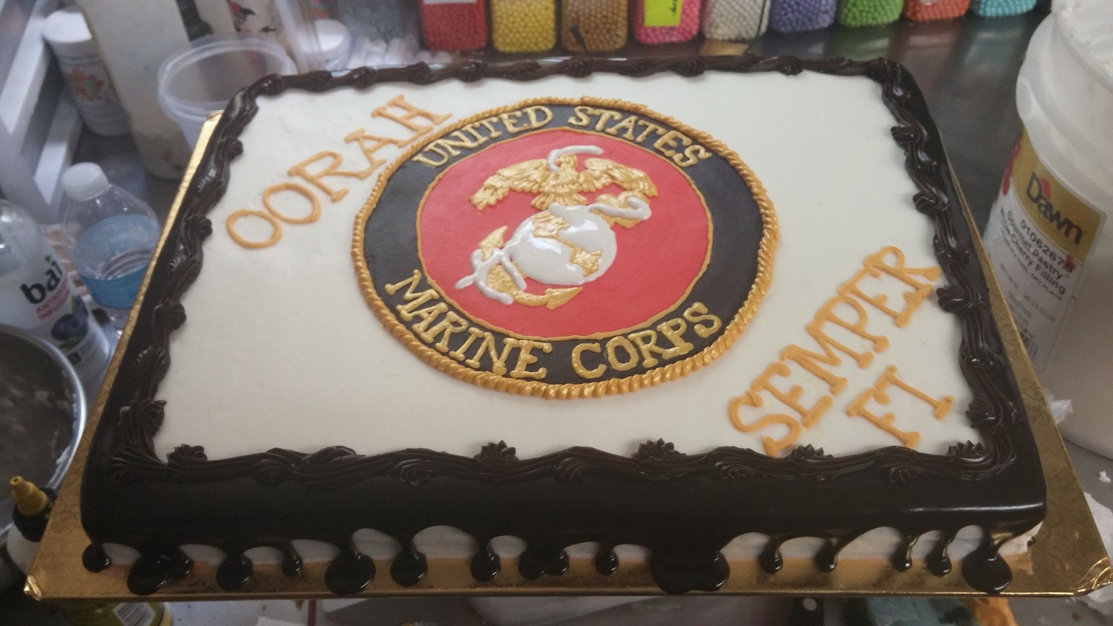 Marine Corps Cake From Naegelin S Bakery Marine Corps Cake