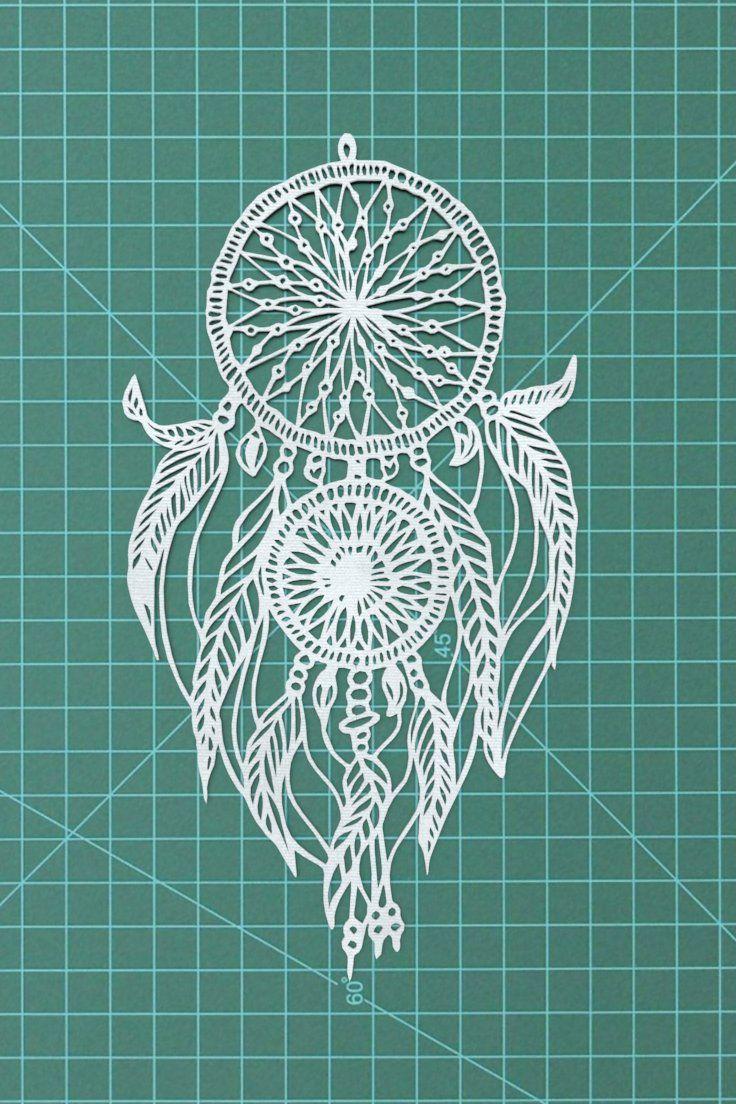 Dreamcatcher handmade papercut art decor
