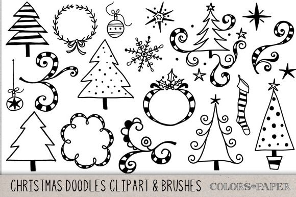 christmas doodles clipart brushes pinterest christmas doodles rh pinterest com Delightful Doodles Clip Art Delightful Doodles Clip Art