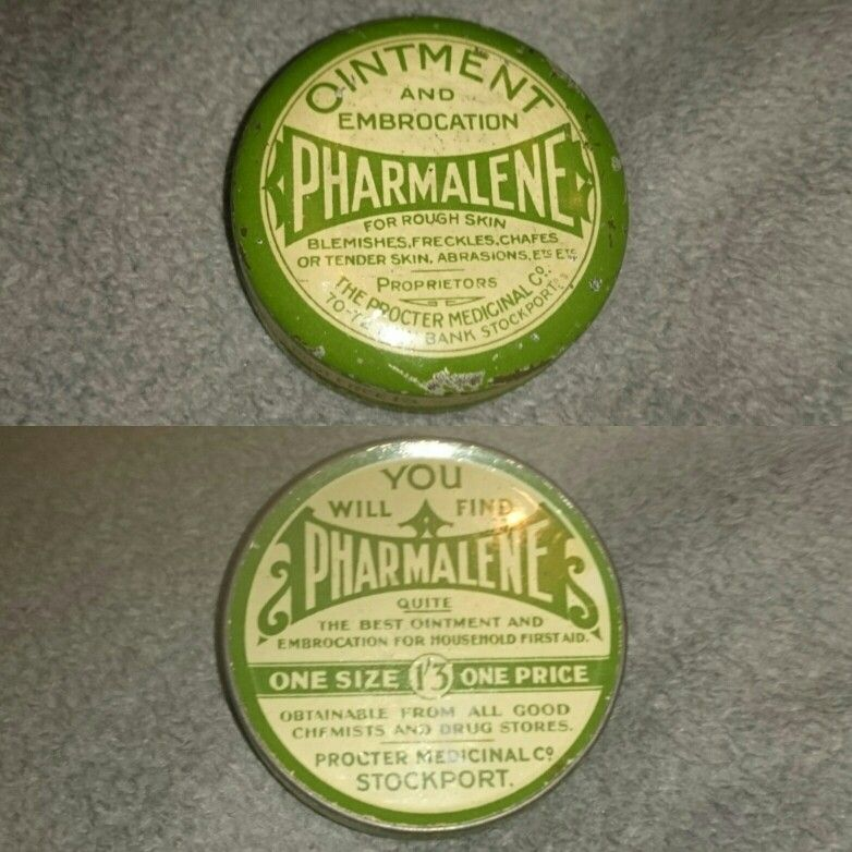 Pharmaceutical ointment and embrocation, a antique / vintage pharmacy tin from an old chemists or apocrathry store