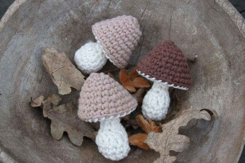 Paddenstoel haken #mushroom #crochet