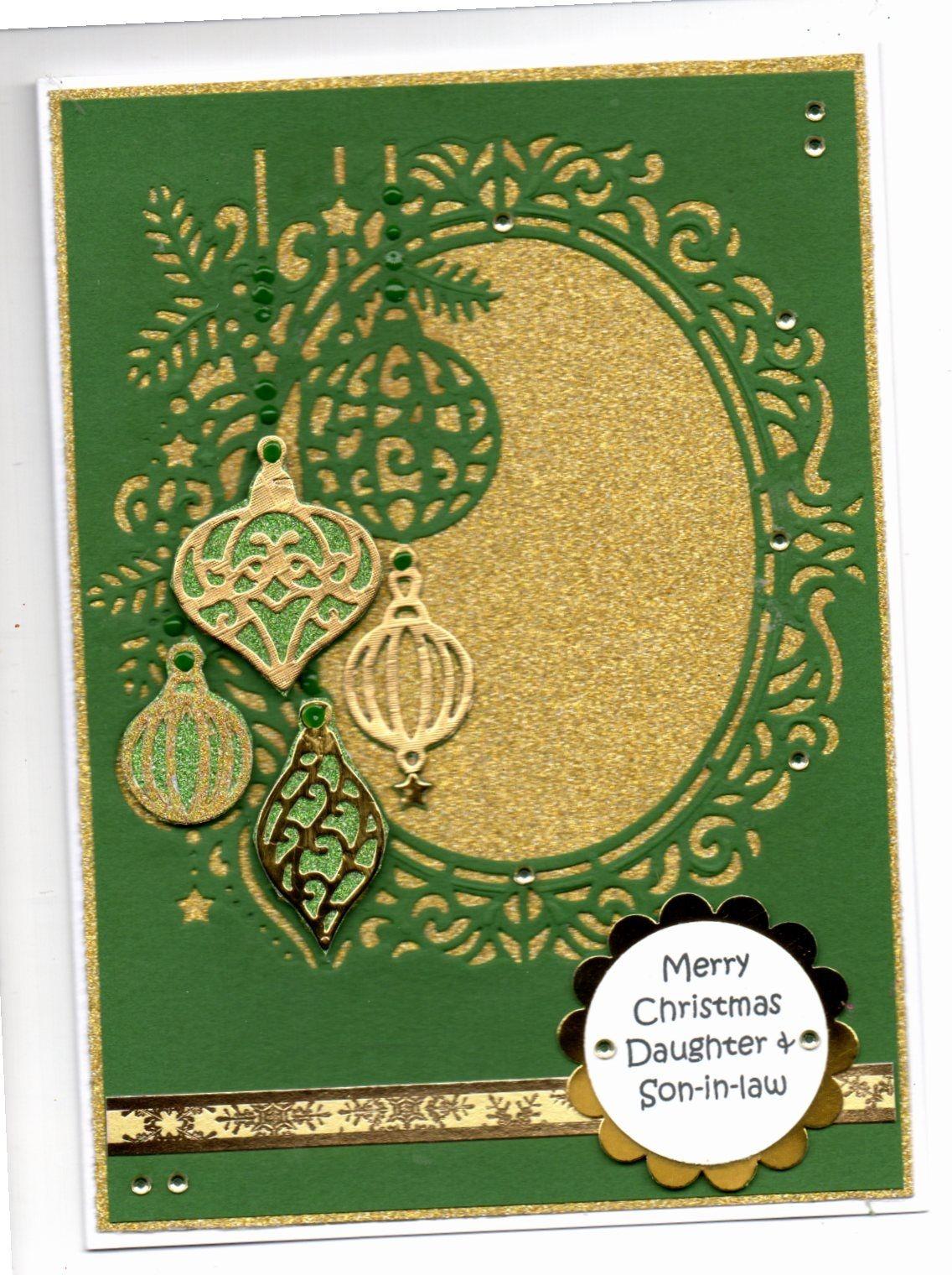 New Die/'sire Create-A-Card Christmas Dies Beautiful Baubles