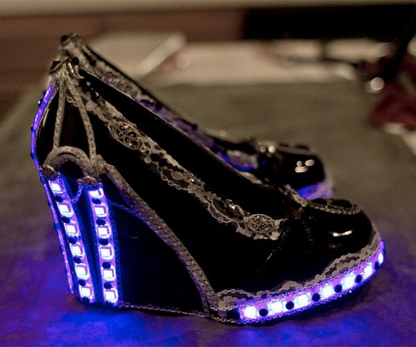 You'll be light on your feet wearing these Steampunk pumps by The Ratchet and Cog.