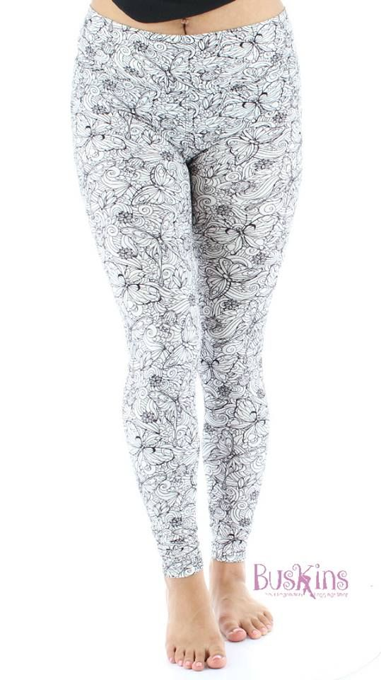 50264b9d0b6d67 Inked Up - You can color these yourself!!! Buskins Leggings, Plus Size